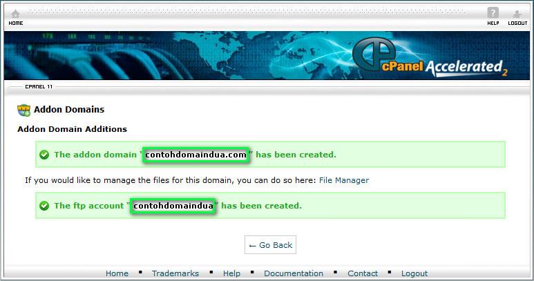 Create Addons Domain