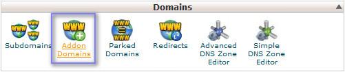 Menu Addons Domain